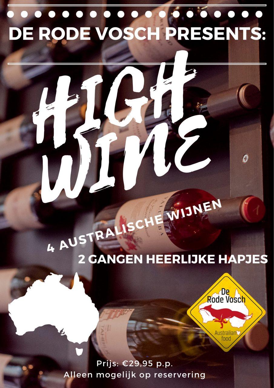 High Wine Australisch restaurant de Rode Vosch Utrecht