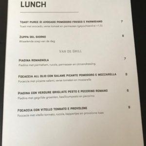 Italiaans Restaurant Maximiliano - Lunchkaart