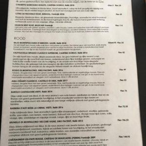 Italiaans restaurant Maximiliano Wijnkaart